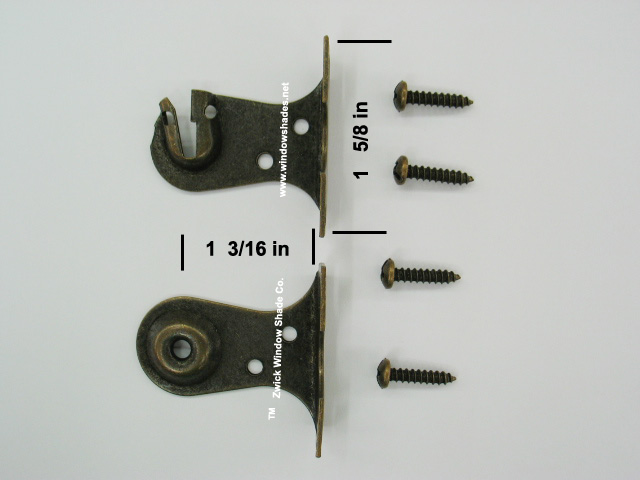 76 OB Outside Mount Brackets (Antique)